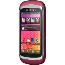 Красно-розовый телефон Alcatel One Touch 818 (Гольяново)